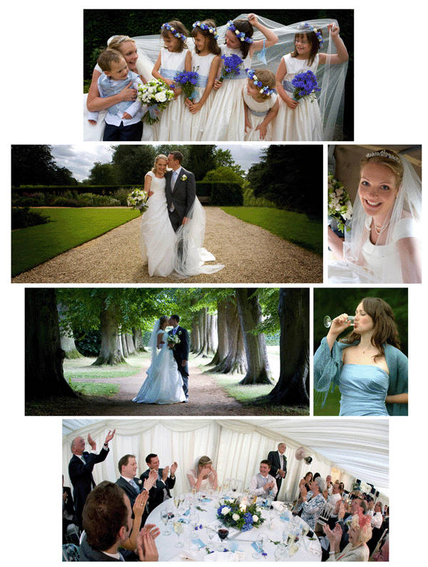 Natural and relaxed wedding photographs taken at The Vyne, Hampshire