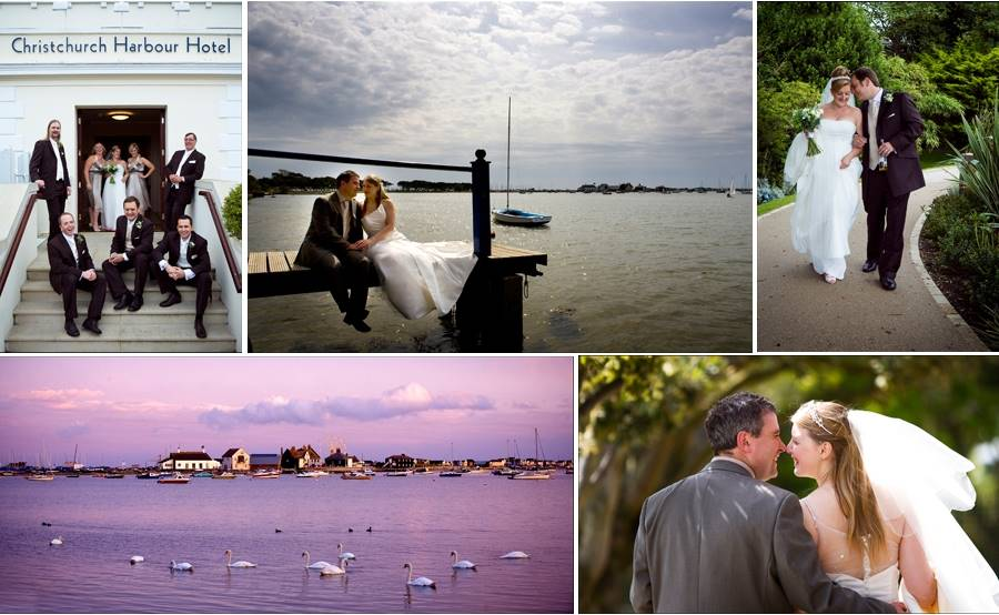 Wedding photography at Christchurch Harbour Hotel, Dorset.
