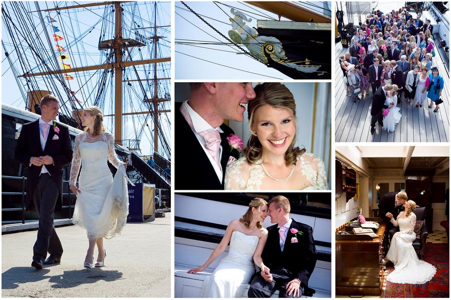 Natural and relaxed wedding photography onboard HMS Warrior, Portsmouth, Hampshire