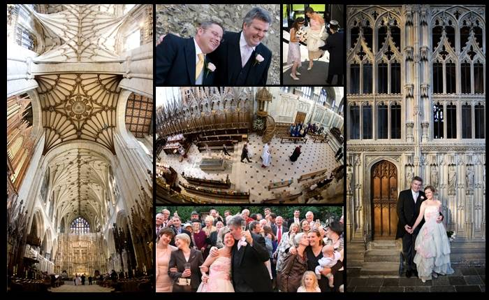 Natural and relaxed wedding photographs taken at Winchester Cathedral, Hampshire.