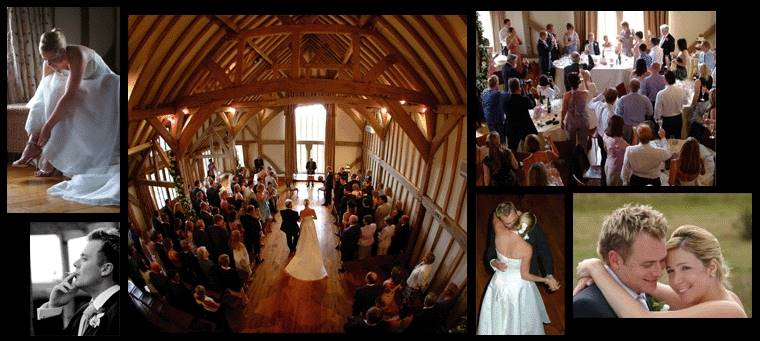 Natural and relaxed wedding photographs taken at Clock Barn, Whitchurch, Hampshire.